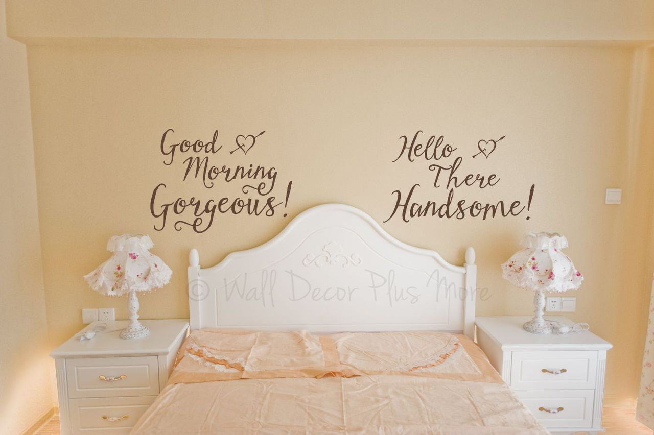 Gorgeous and Handsome Master Bedroom Vinyl Wall Decals ...