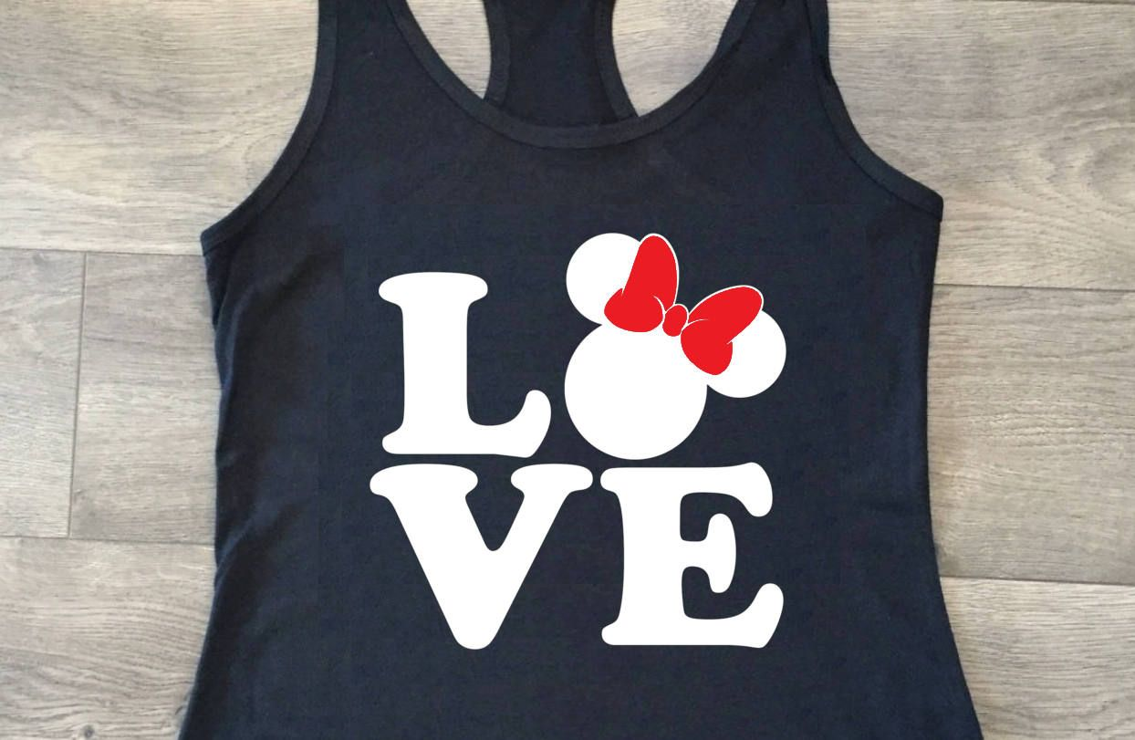 0053222c48345 Love   Minnie Mouse   T-shirt or Tank Top   Disney shirts   Disney vacation    Magic Kingdom   Disney Princess   My favorite place   Home