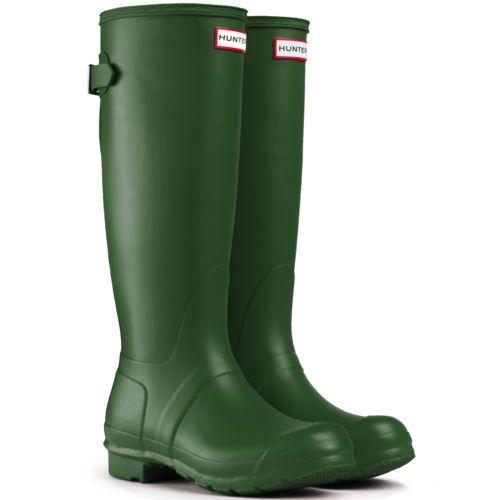 Womens Hunter Wellington Boots Original Adjustable Back Wide Calf Wellies 5  10  4c3ec46396