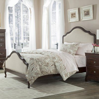Cresent Fine Furniture Provence Upholstered Bed Size California