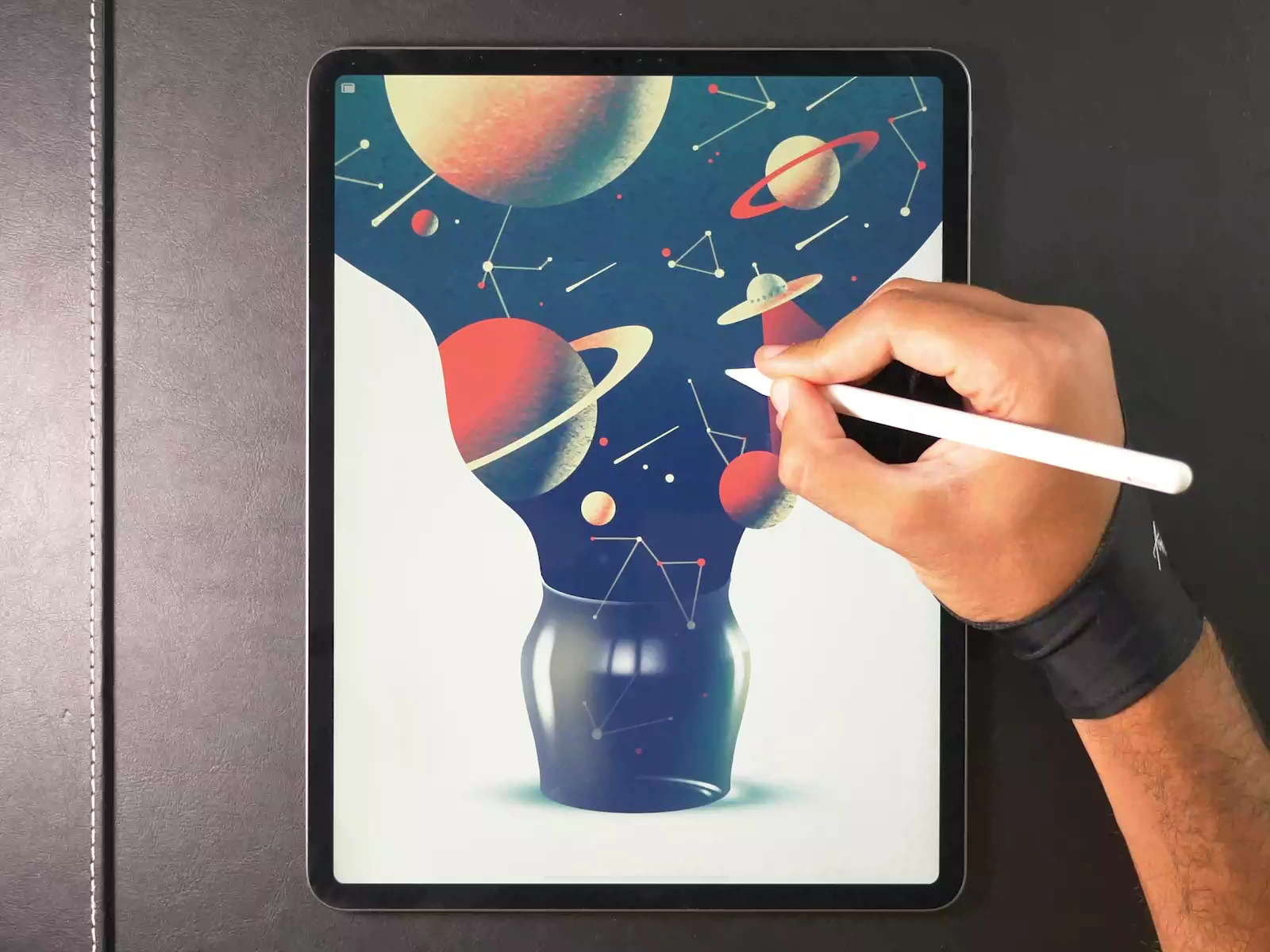 Galaxy Jar - Procreate Drawing | Digital Painting by Gal Shir | CLICK THE LINK FOR THE FULL PROCESS