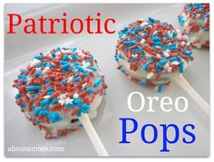 Patriotic Oreo Pops - Use KToos to make allergy-safe
