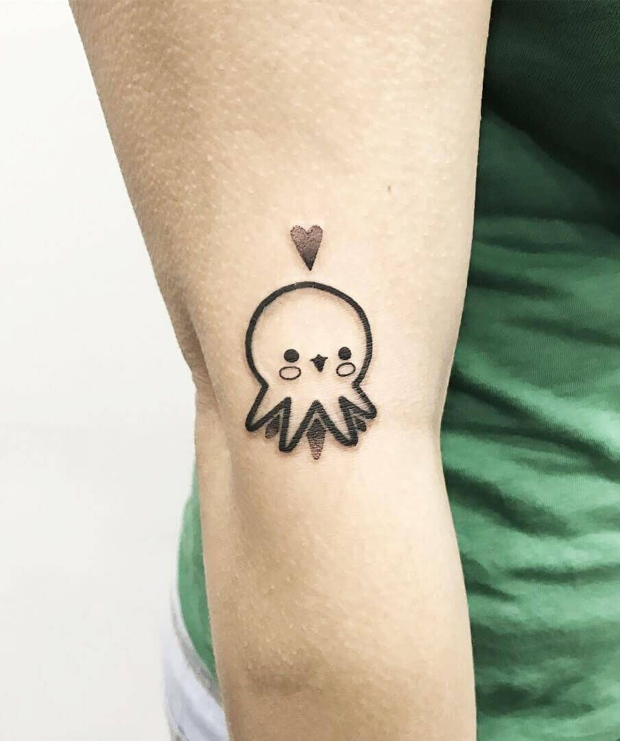 35 Cute Tattoo Designs By Hugo Tattooer Small Octopus Tattoo Octopus Tattoo Cute Octopus Tattoo