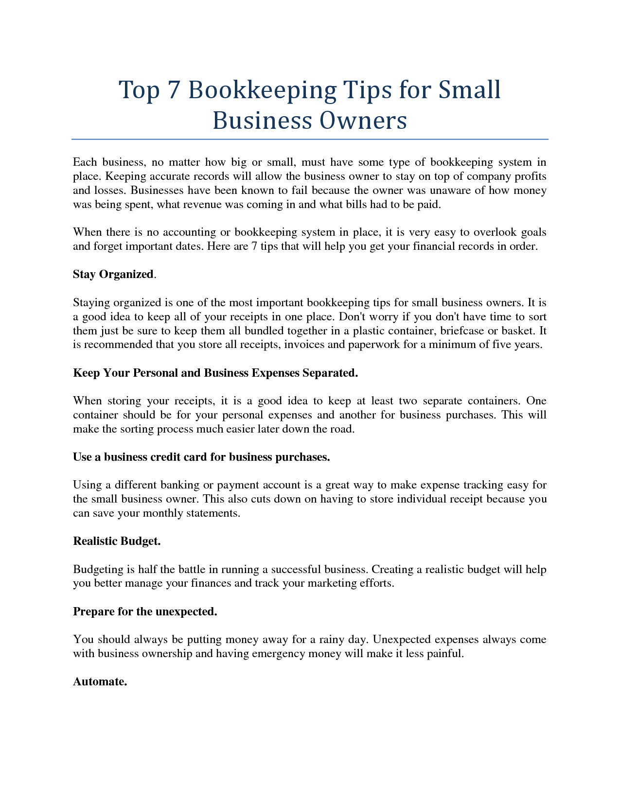 Small business bookkeeping tips acounting and financial tips small business bookkeeping tips reheart Images