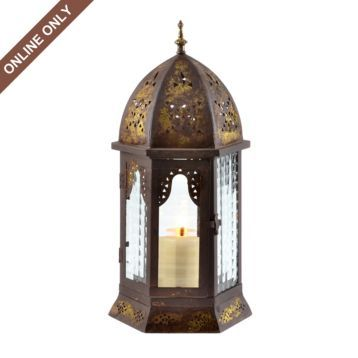 Metal Bronze Cathedral Lantern
