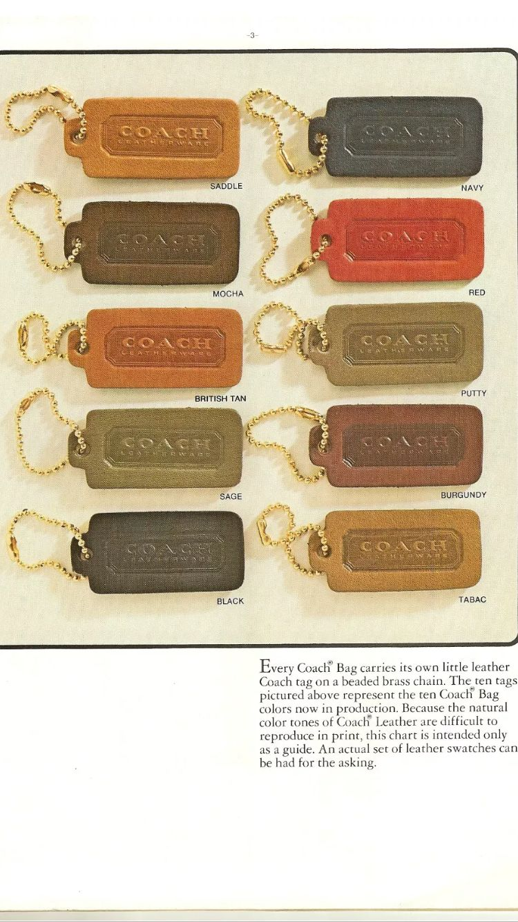 Coach Leather Colors