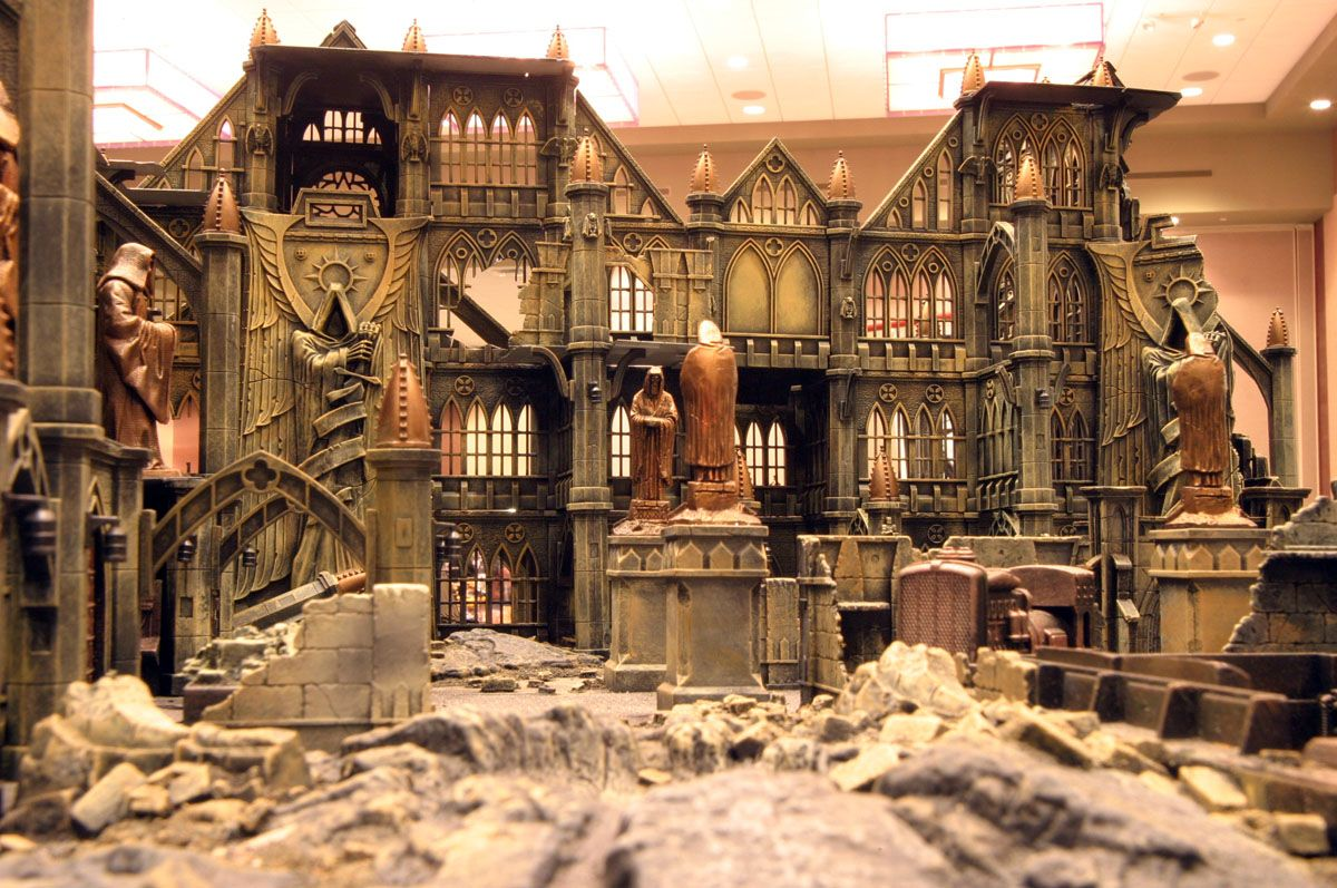 Bombed Imperial Fortress. Outstanding work!