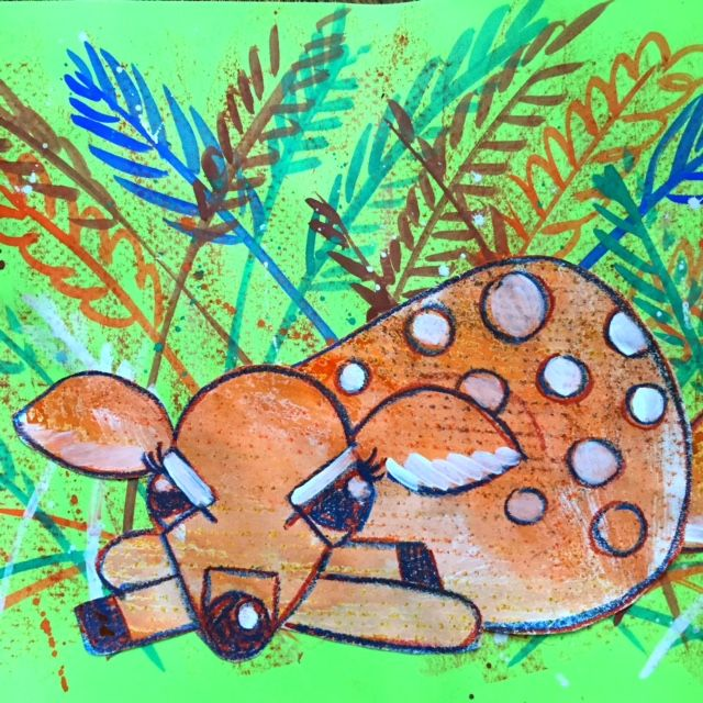 Cassie Stephens: In the Art Room: Charley Harper-Inspired Fawn ...