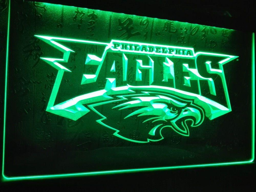 Philadelphia Eagles Football Led Neon Light Sign Home Decor Crafts Unbranded Modern