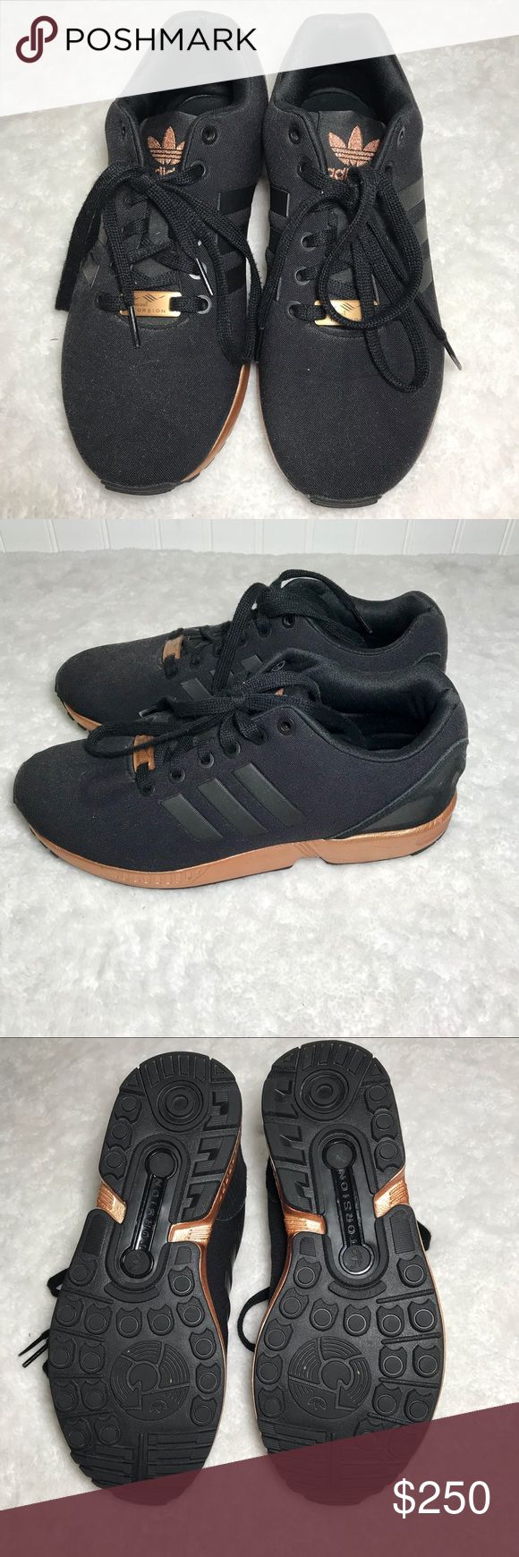 f5641ba84990f Adidas ZX Flux Rose Gold✨ Adidas ZX Flux Copper Rose Gold Worn once! Super