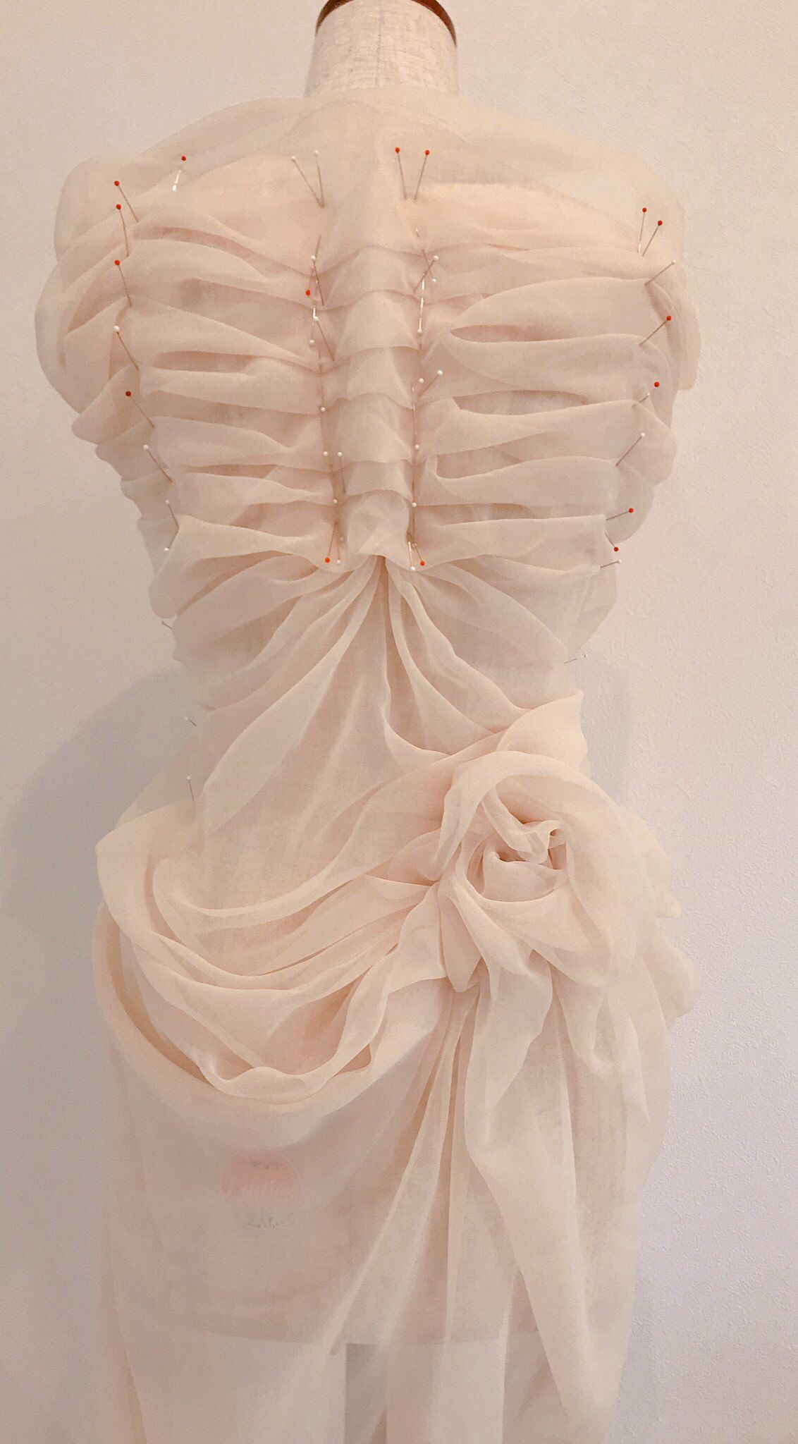Fragile, and it creases. #fabricmanipulation