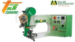 The Miller Weldmaster T3 was designed with the smaller business in mind. This efficient banner welding machine uses hot wedge technology and will produce all the seams required for the banner, sign and awning maker.