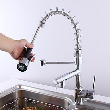 deckenmontiert Zwei Griffe Ein Loch with Chrom Armatur für die Küche