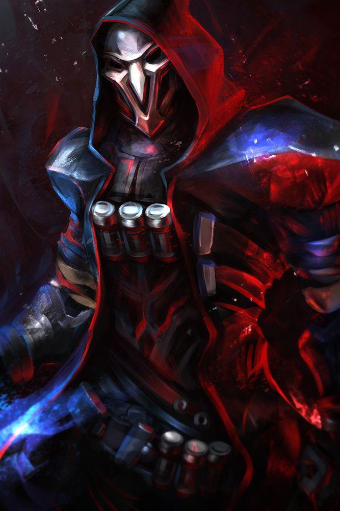 Reaper Overwatch h1fey on DeviantArt Game Art