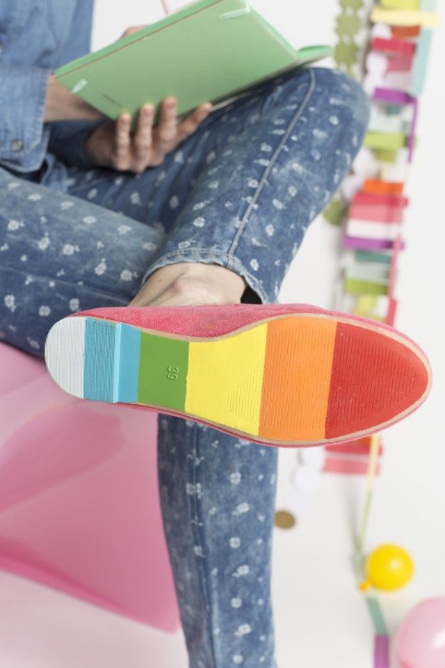 Sola do sapato pintada :)