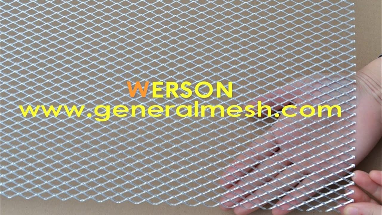 Generalmesh Grill Mesh Aluminum Aluminium Mesh 30x200cm 19x7mm Silver Aluminium Aluminum Metal Net