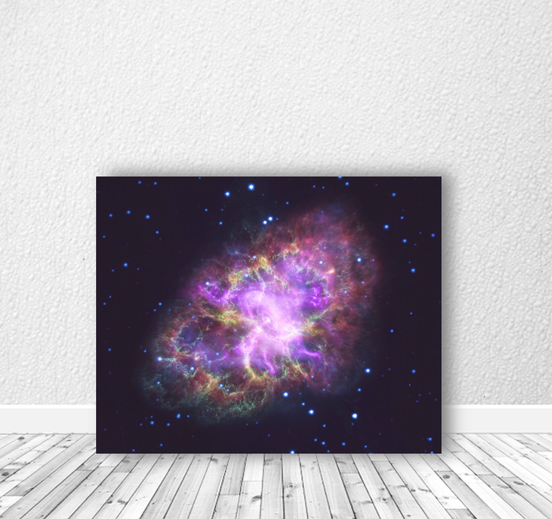 Wall-Art-Print-Poster-Canvas-Crab-Nebula-Space-Astronomy-Stars-Galaxy