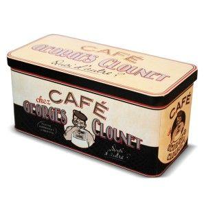 Boîte à dosettes café « Georges Clounet » - Natives - Déco rétro & vintage