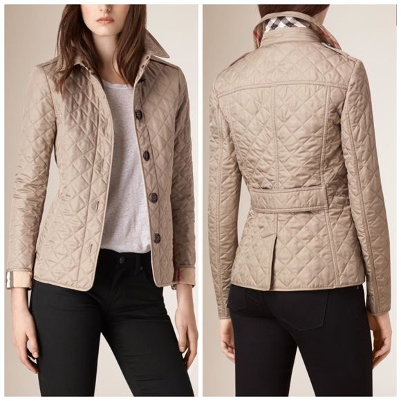 Nwt Burberry Brit Ashurst Diamond Quilted Jacket Authentic