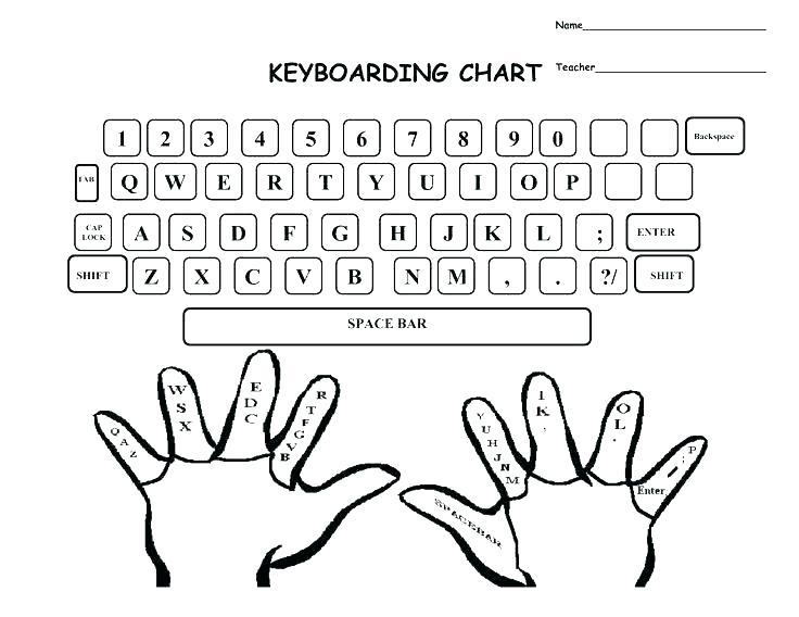 blank typing page free printable keyboarding worksheets