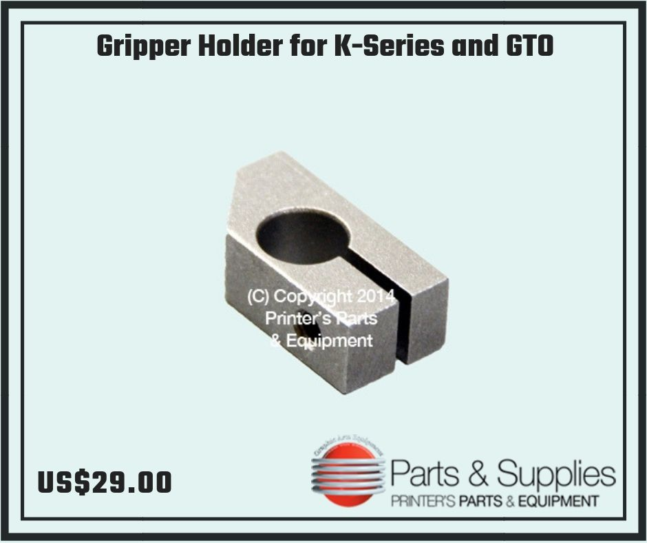 Gripper Holder for K-Series and GTO | Heidelberg Parts