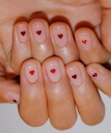 19 adorable valentine's day nail art ideas in 2020  heart