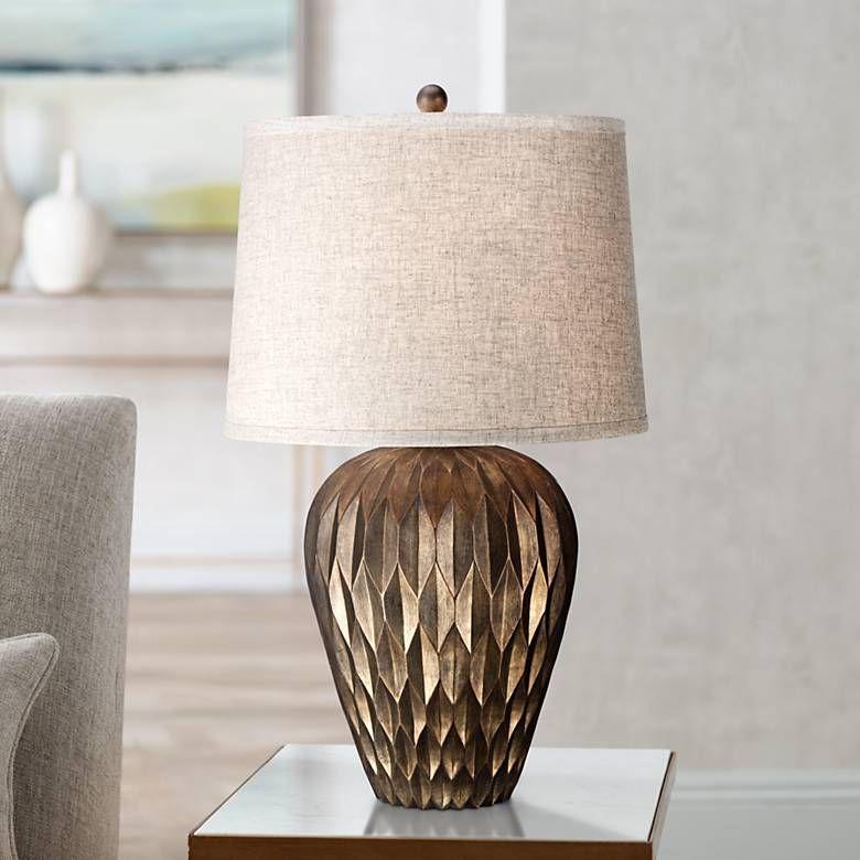 Buckhead Bronze Urn Table Lamp 4c530 Lamps Plus Table Lamps In 2019 Brass Table Lamps Rose Gold Lamp Table Lamp