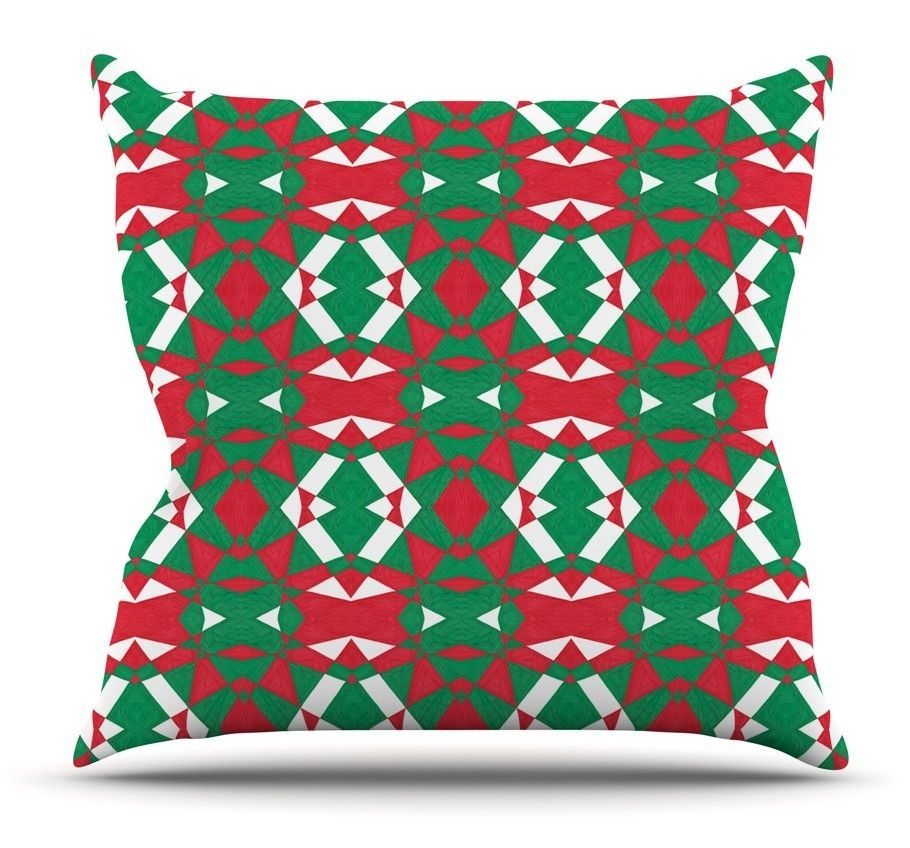 Christmas Geo by Empire Ruhl Throw Pillow