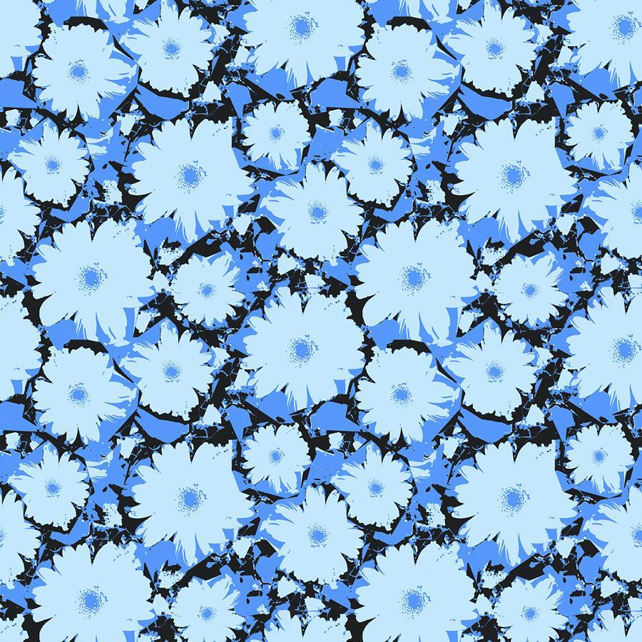 Blue Flowers #blueflowerwallpaper
