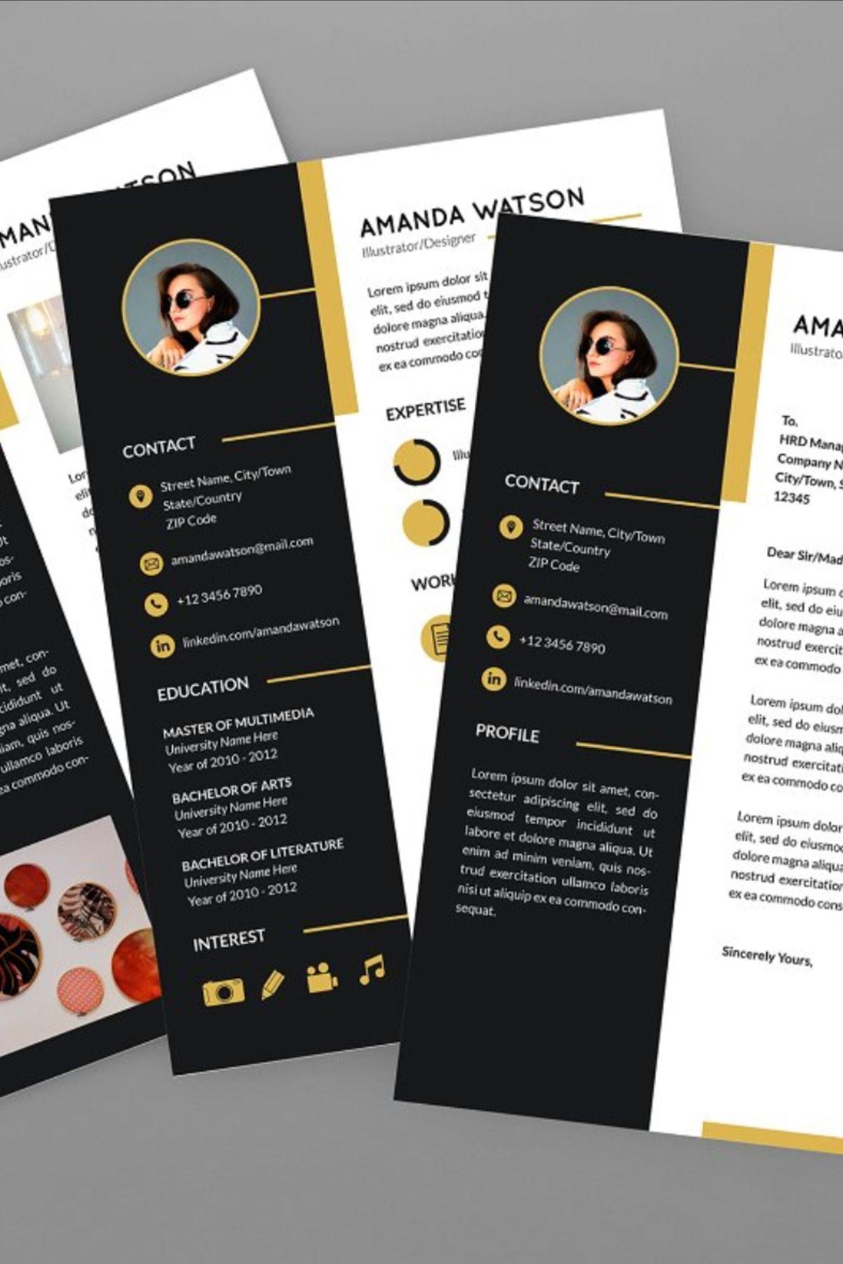 Amanda illustrator resume designer in 2020 creative
