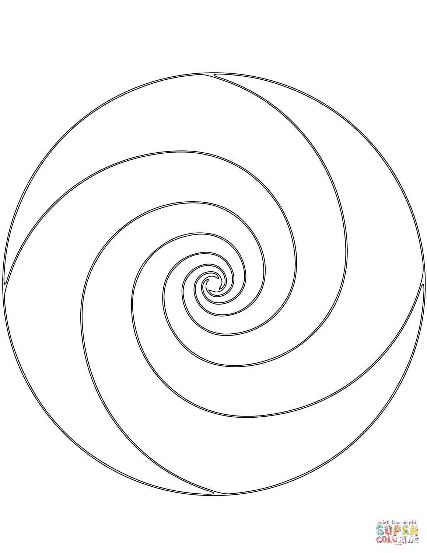 Spiral Mandala Coloring Page From Geometric Mandalas Category