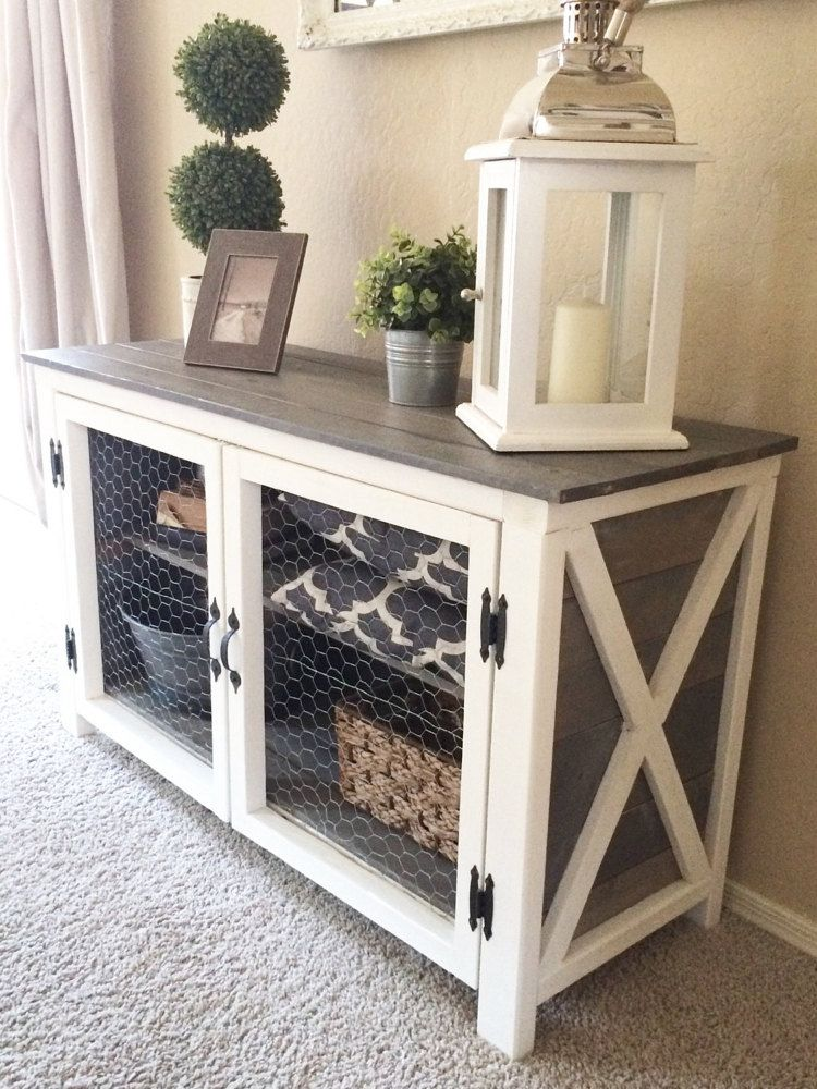 Rustic Storage Console by on Etsy Diy