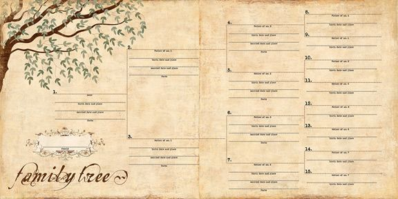 Family Tree Scrapbook Google Search Export Do Obrzku