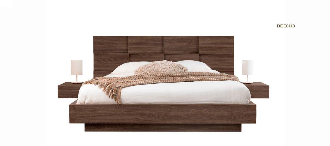Cama moderna en madera camas pinterest camas for Cama king size de madera
