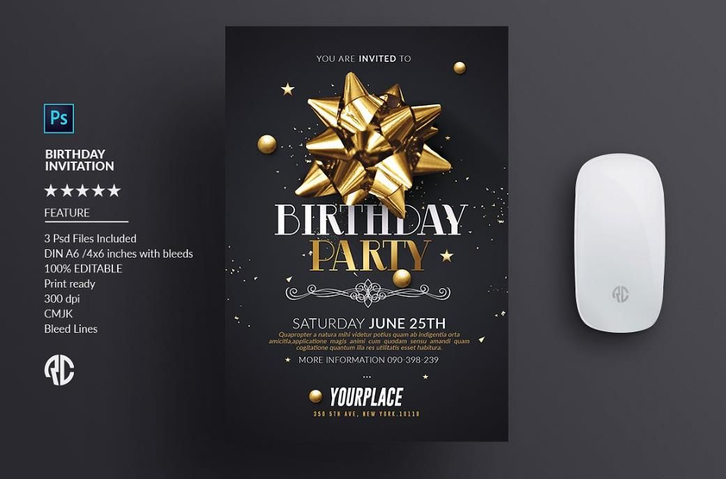 Download Free \ Premium hand picked Birthday party invitation word - free party invitation template word