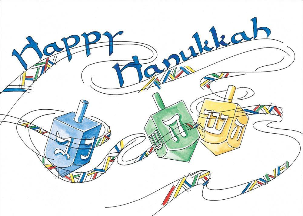 Hanukkah Greetings | Happy Hanukkah Dreidels - Hanukkah Cards from CardsDirect