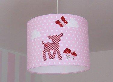 Kinderzimmerlampe, kleines Rehkids,rosa rot | Products | {Kinderzimmerlampe 23}