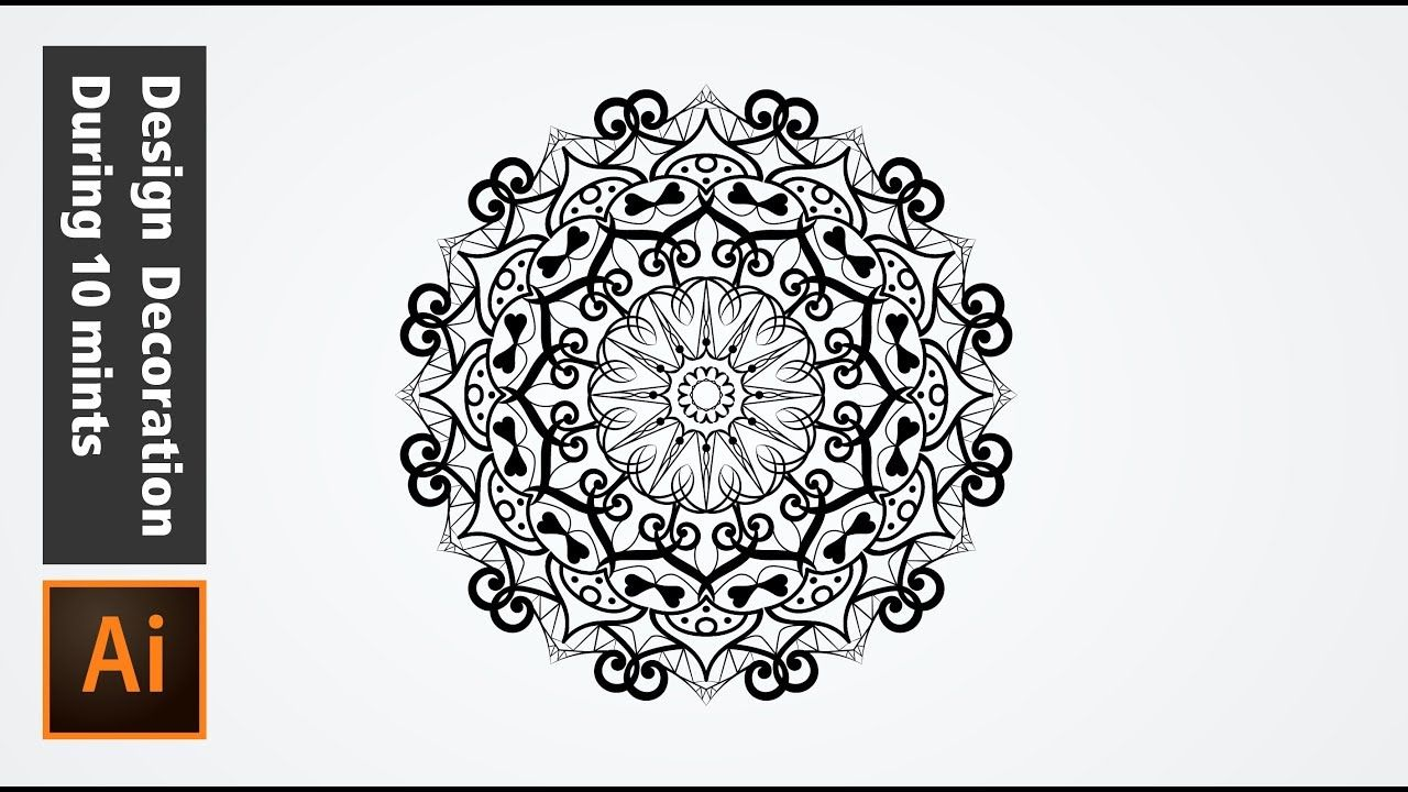 How To Draw A Ornament In Adobe Illustrator During 10 Mints Illustrator Tutorials Adobe Illustrator Tutorials Illustration