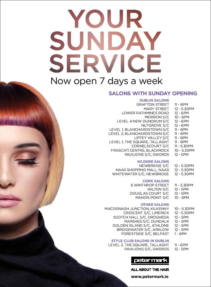 Selected Peter Mark Salons Are Now Open 7 Days A Week For Your Convenience Check If Your Local Salon Is Included Full List Of Salons Salon Services Balayage