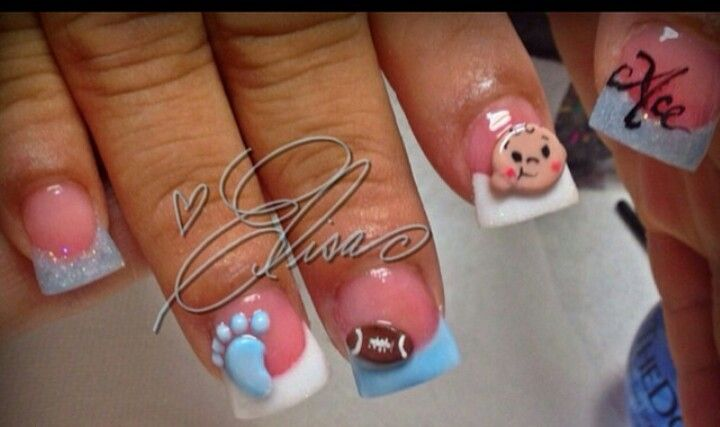 Aww Ace Nails Love Nails Pinterest