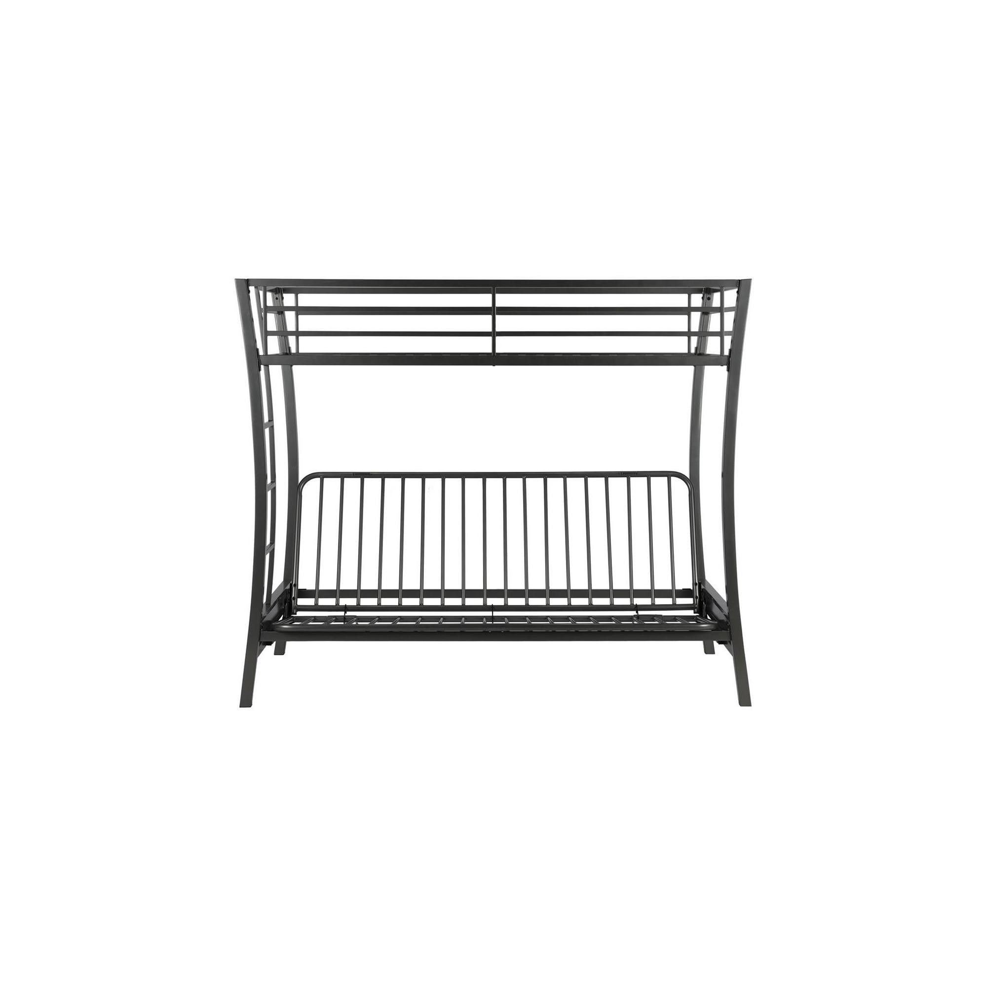 Dorel Home Products Metropolis Twin Over Futon Bunk Bed Silver