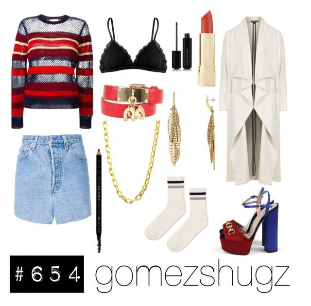 """""""red, blue, gold, black, white"""" by gomezshugz ❤ liked on Polyvore featuring Gucci, Étoile Isabel Marant, Vetements, Cosabella, Dolce&Gabbana, Topshop, Luv Aj, Rebecca Minkoff and Marc Jacobs"""