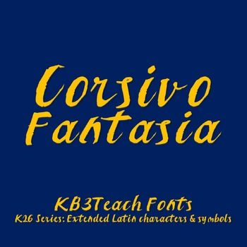 Download FREE FONTS: Corsivo Fantasia (Personal Use: K26 Series ...
