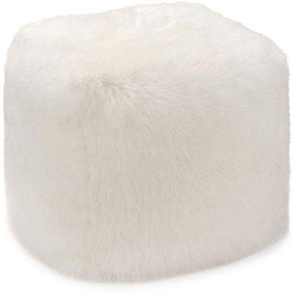 Ugg Sheepskin Pouf 40 Liked On Polyvore Featuring Home Extraordinary Sheepskin Pouf Bean Bag