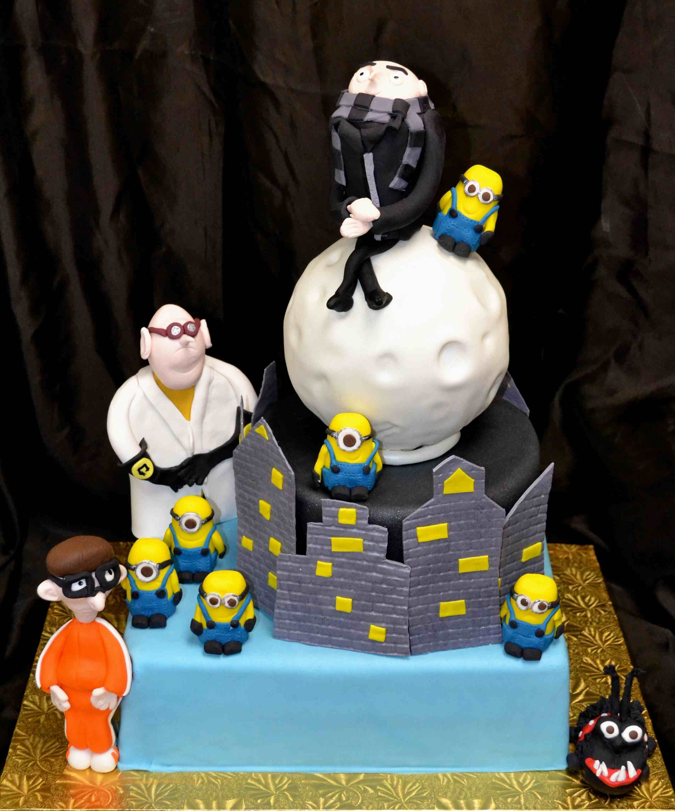Deable Me Birthday Cake With Dr Nafario Gru Vector Kyle And