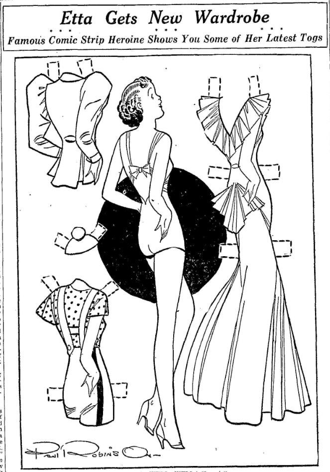 "Etta Kett - Mar 25 1936 - paper doll  ""Etta Kett,"" created by Paul Robinson 1898-1974)."
