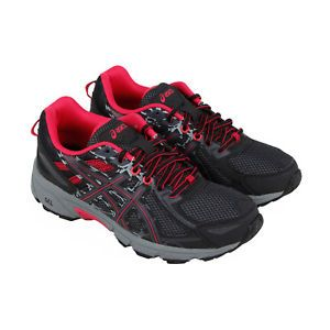 2b415d14dfc Asics Gel Venture 6 Womens Black Textile Athletic Lace Up Running Shoes