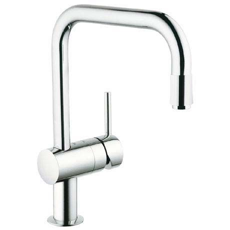 Grohe Minta Kitchen Sink Mixer With Pull Out Spray Chrome 32067000 Grohe Kitchen Taps Kitchen Sink Taps Kitchen Taps