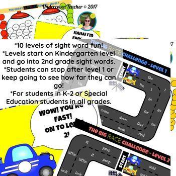 The Super Fun Sight Word Game Bundle Paperless Digital Sight