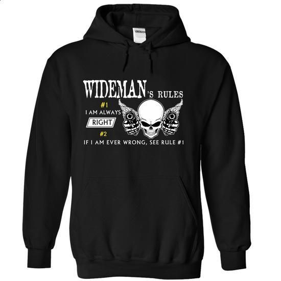 WIDEMAN - RULES I AM ALWAYS RIGHT IF I AM WRONG, SEE RU - #raglan tee #sweater blanket. CHECK PRICE => https://www.sunfrog.com/Valentines/WIDEMAN--RULES-I-AM-ALWAYS-RIGHT-IF-I-AM-WRONG-SEE-RULE-1-55332935-Ladies.html?68278